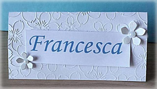 Segnaposto Matrimonio decorato a fantasia di Fiorellini