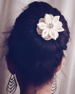 accessori per capelli per acconciatura da sposa per matrimonio fiore bianco con cristalli