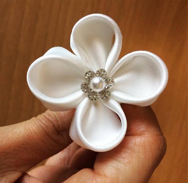forcina con perla e strass - accessori da cerimonia