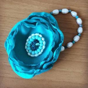 accessori da cerimonia bracciale blu fiore peonia